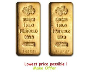 2-Kilo-PAIR-Pamp-Suisse-Gold-Bar-9999-Fine-AVAILABLE-to-ship