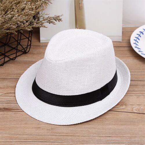 Baby Kids Boy Girls Hat Cap Children Breathable Hat  Summer Beach Straw Sun Hat