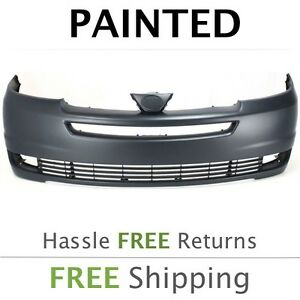 NEW FRONT BUMPER COVER PRIMED FITS 2004-2005 TOYOTA SIENNA TO1000269
