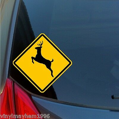 Jackson Hole WY moose sticker decal wildlife caution sign ski snowboard skiing