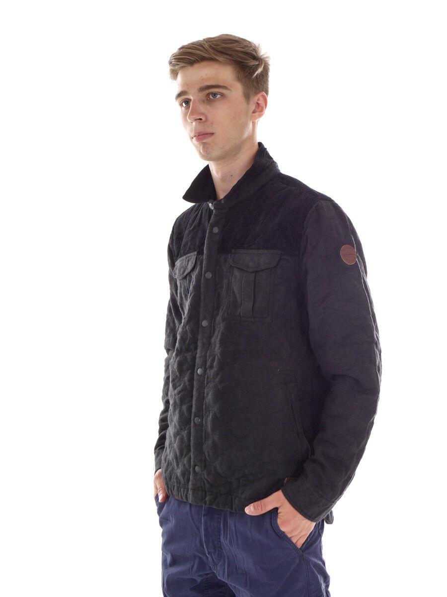 O`Neill Casual Jacket Outdoor brodé de velours côtelé noir matelassé