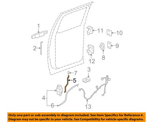 Rear Door-Lock Assembly Rod Left 15175387 GM OEM Lock