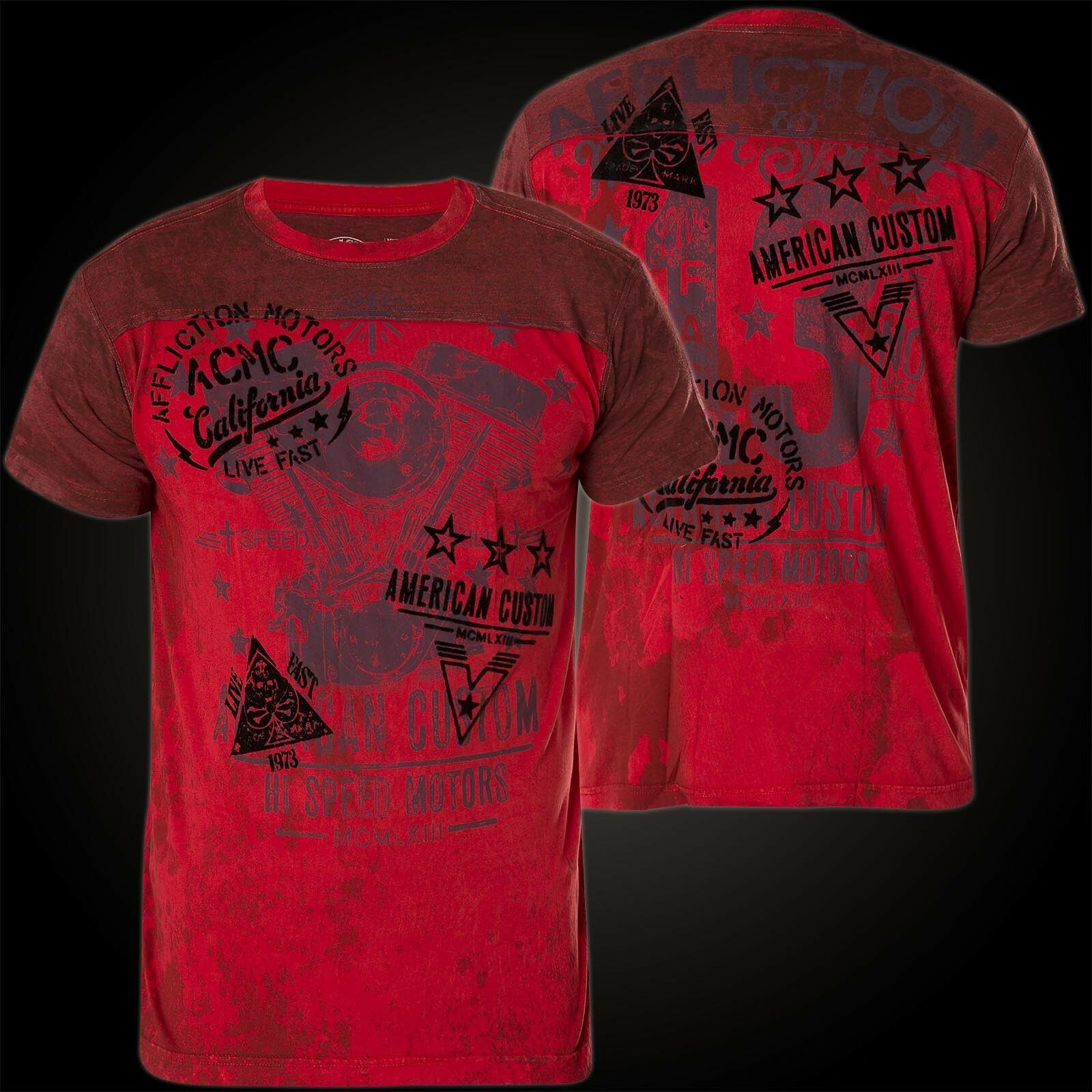 Affliction T-shirt Threshold Rosso T-shirts
