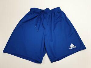 GG217-Garcons-Adidas-Bleu-Blanc-Sports-Football-Shorts-UK-S-Age-8-10-ans-W24-26