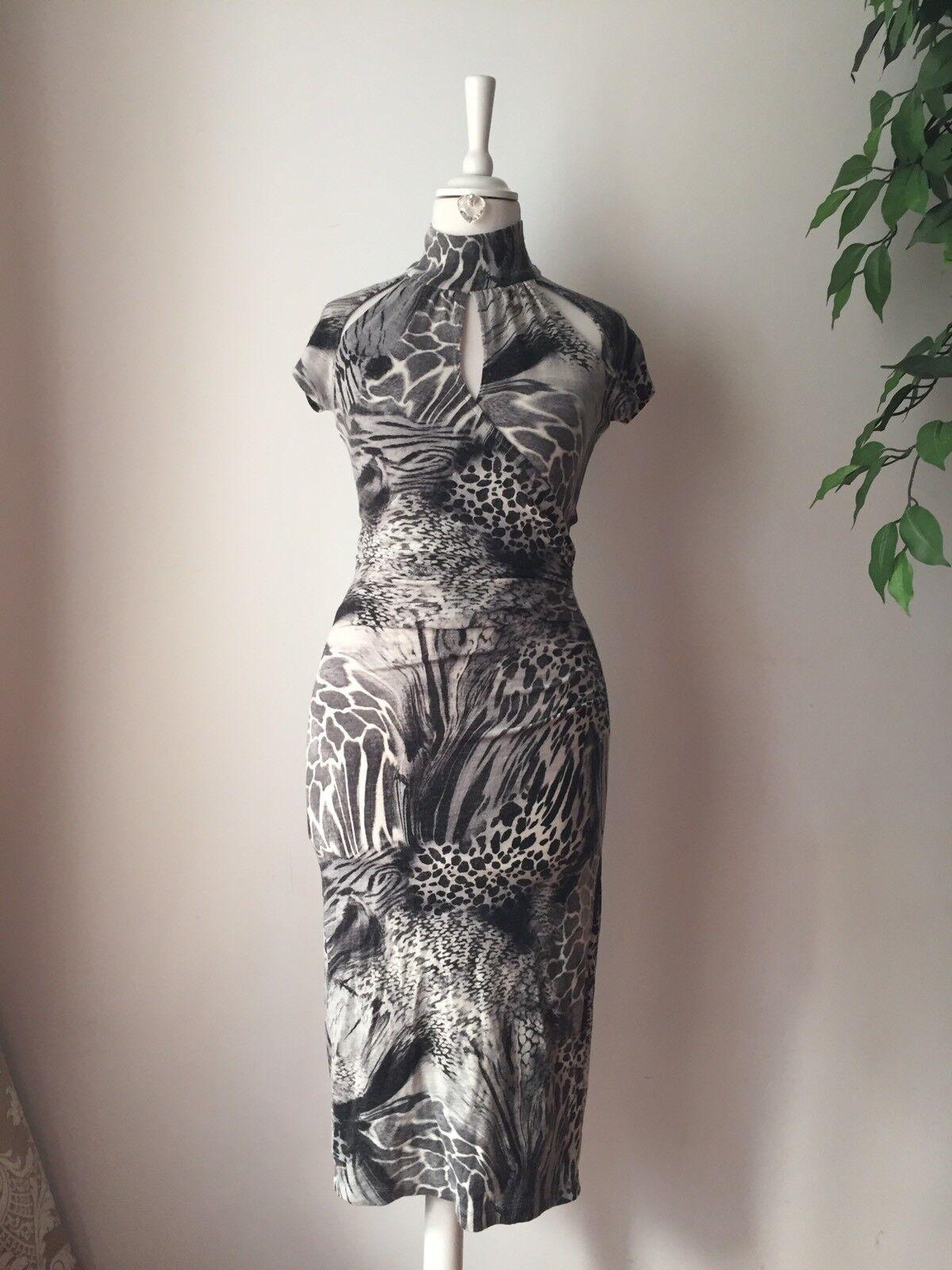 CACHE Damen Kleid Knielang aus USA  Top Hingucker  Gr. S
