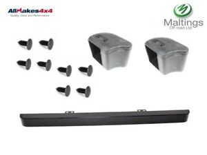 Allmakes LR062058 Front Bumper and Rubber End Caps with Stainless Steel Fitting Kit for Land Rover