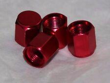 Anodized Aluminum Alloy Valve Stem Cap 4 pack Set RED Hex Dress Up Kit NEW