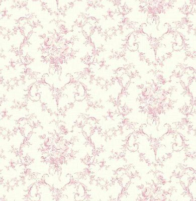 Feminine Cottage Floral in Pink Wallpaper CW71001 Double Roll Bolts