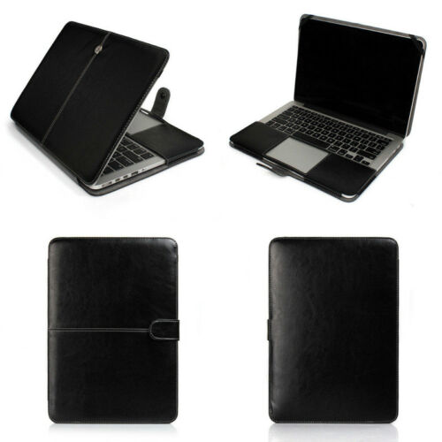 "PU Leather Laptop Book Back Case Cover for MacBook 12/"" AIR PRO 11/"" 13/"" 15/""Retina"