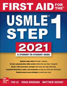 FREE SHIPPING First Aid for the USMLE Step 1 2021 TAO LE 9781260467529