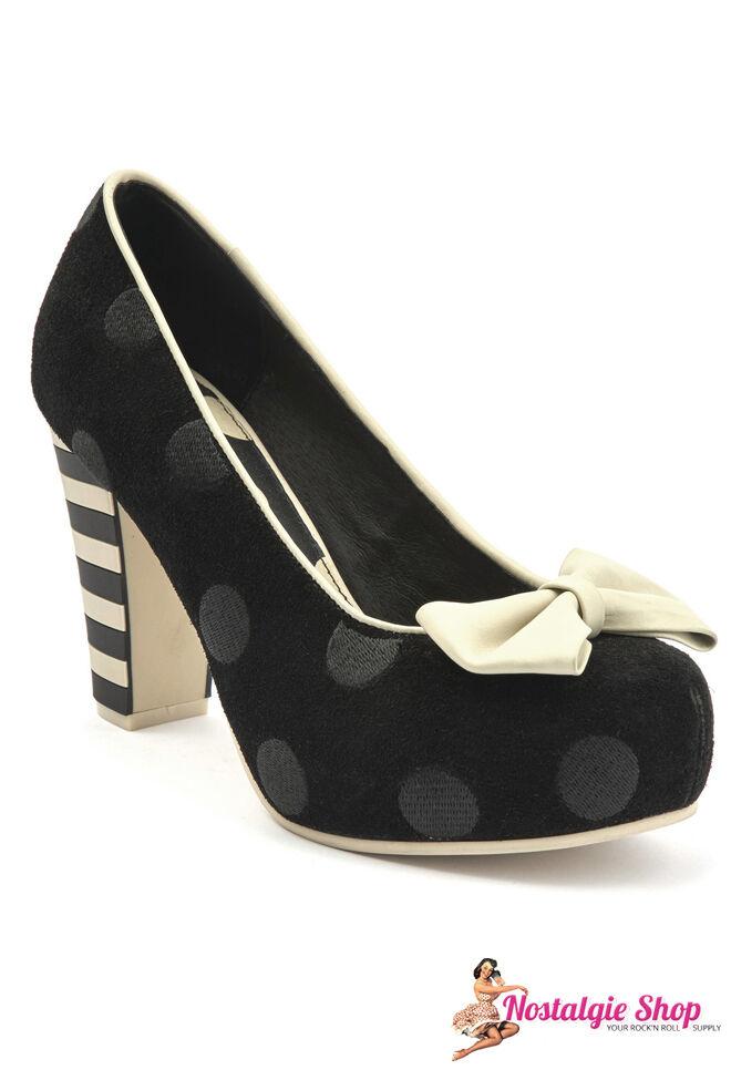Lola  Ramona Pumps Leder Neu  Lola  Damenschuh 50er Rockabilly Vintage Schuhe Polka Dots 65c73b