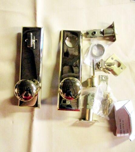 BALDWIN weight brass entry door knob Pol Brass finish long rose BX7750CUS3LT