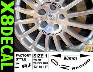 """Roue Centre Decal autocollant pour s'adapter à OZ Racing 13""""-16in roue x8 Couleurs Diverses-afficher le titre d`origine B0uhajiv-07184512-577325928"""