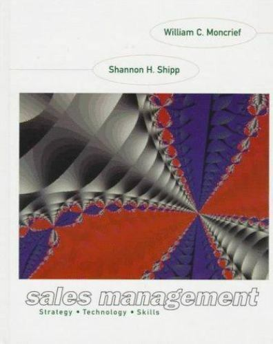 Sales Management by Moncrief, William C. , Paperback
