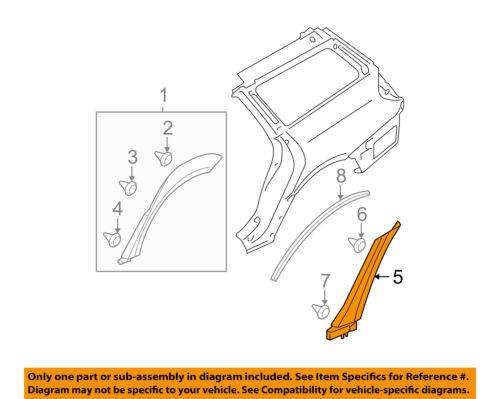 SUBARU OEM 05-09 Legacy Exterior-Lower Molding Trim Right 91021AG00CNN