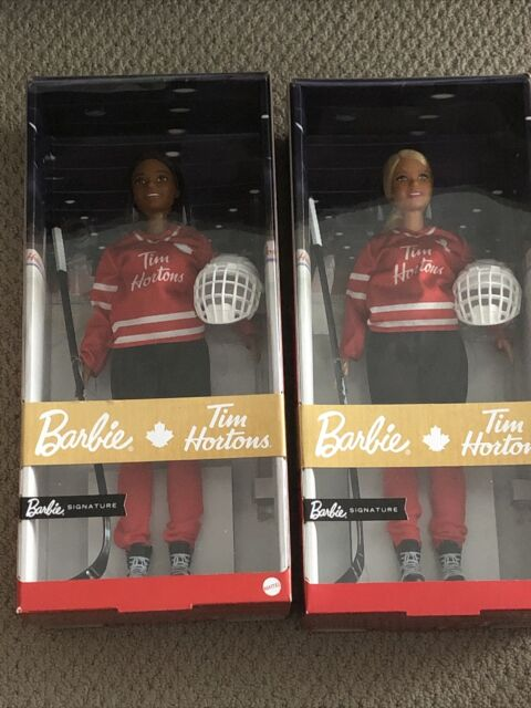 2020 Tim Hortons Hockey Barbie Dolls - set of  both the Blonde & Brunette ones