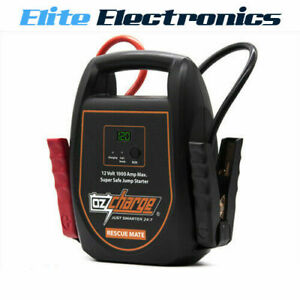 OZCHARGE RM1000 RESCUE MATE BATTERYLESS 1000AMP CAPACITOR JUMP STARTER