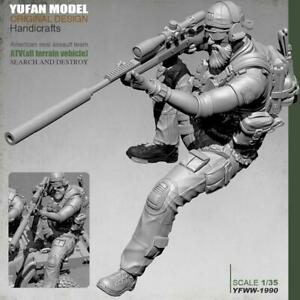 1-35-Pesante-Trooper-Anteriore-soldier-stand-Resin-Model-Kit-Unpainted-E5T5