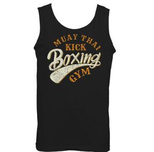 Muay-Thai-Kick-Boxing-Gym-Mens-Martial-Arts-Vest-MMA-Top-UFC-Skull-Boxer