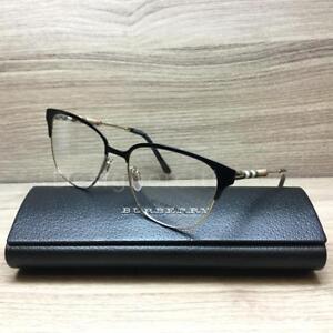 088f58ebb1a Burberry B 1313-Q 1313 Eyeglasses Black Gold 1237 Authentic 53mm