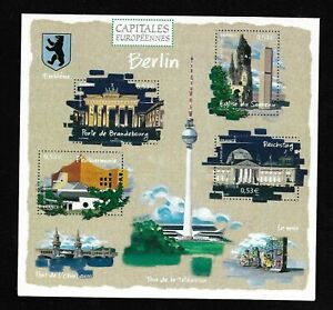 Bloc-Feuillet-2005-N-88-Timbres-France-Neufs-Capitales-Europeennes-Berlin