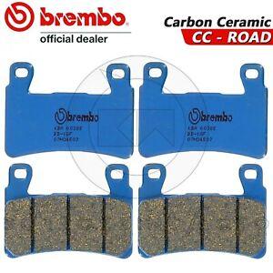 4-PASTIGLIE-FRENO-ANTERIORI-BREMBO-BLU-CARBON-CERAMIC-HONDA-CBR-600-F-2003