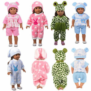 Baby-Born-Doll-Clothes-Fit-17inch-Zapf-Dolls-Sleeping-Jumpsuit-Suit-Doll-Pajamas
