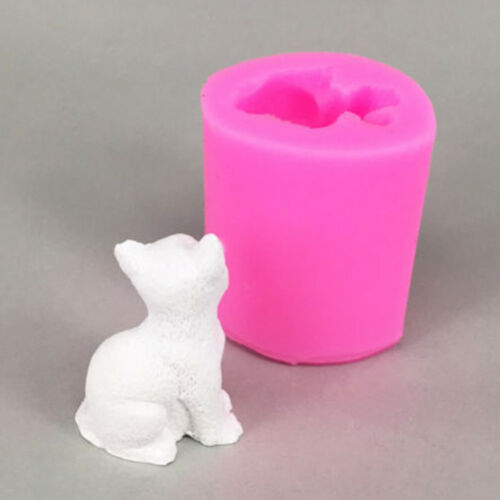3D Cute Cat Mould Silicone Candle Quality Mold Fondant Cake Decor Modeling Mold
