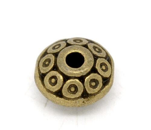 BE 100 Bronze Tone Pattern Spacer Beads jewelry accessories DIY 6x4mm