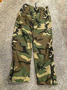 Gore Tex Impermeable Pantalones De Lluvia Camo Militar Para Hombre Xl Ebay