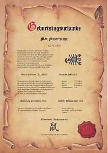 Geburtstagskarte Geburtstagsgeschenk 18 30 40 50 Lustige 60 Urkunde