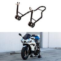 Rear Motorcycle Sports Bike Stand Black Swingarm Stand Lift Auto Bike Shop on sale