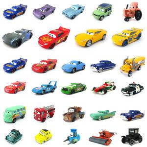 Disney-Pixar-Cars-Lightning-McQueen-Tractor-giocattolo-modello-1-55-King-Auto-Bambini-Regalo