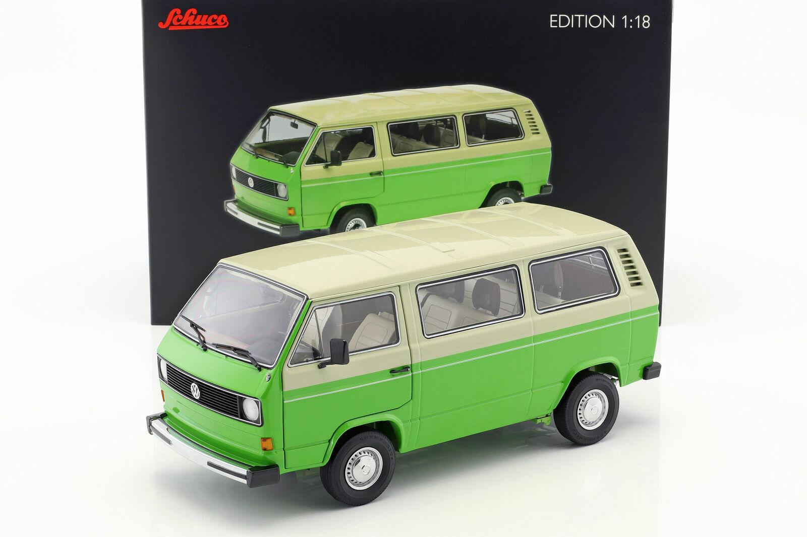 Schuco 1 18 Volkswagen T3 Bus 1979-82 verde Beige 450038000
