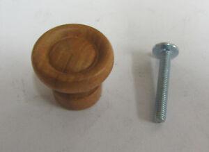 Pomello pomolo in legno x mobili armadi cassetti in faggio tinto noce ø 30 mm