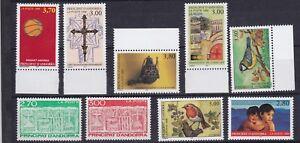 489-497 Postfrisch The Latest Fashion Nice Briefmarken Andorra französische Post