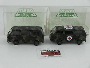 HERPA-MAAG-1-87-2-VEH-CULOS-VW-T3-BUS-MILITAR-AMBULANCIA-NUEVOS-OVP