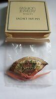 Vintage Avon 1982 Sachet Fan Pin