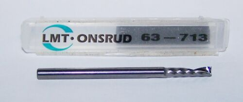 "1//8/"" .1250/"" CARBIDE SINGLE O FLUTE ENDMILLS FOR HARD PLASTIC ONSRUD 63-713"
