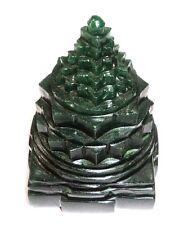 Green Jade Shree Yantra / Shri Yantra In Natural Green Jade