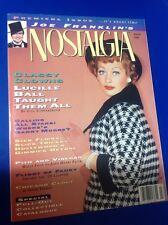 Lucille Ball March 1990 NOSTALGIA MAGAZINE I Love Lucy DESI ARNAZ