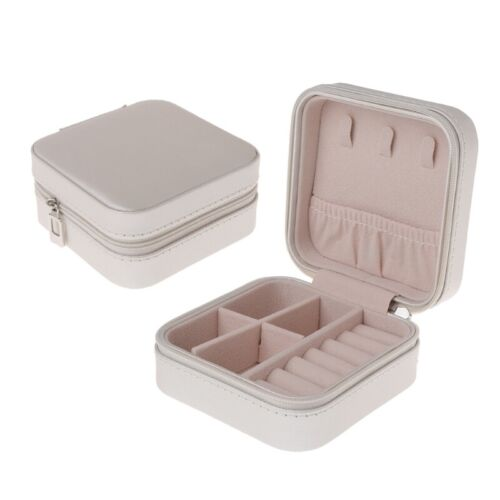 Portable Jewelry Storage Organizer Box Zipper Portable Women Display Travel Case
