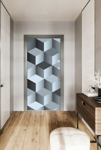 3D-Cubes-Door-Wrap-mural-Stickers-Self-Adhesive-Peel-and-Stick-Vinyl-Wallpaper