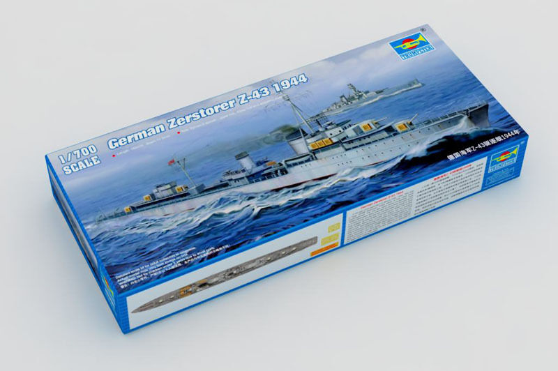 Trumpeter 05789 Destroyer German Zerstorer Z-43 1944 Battleship 1 700 Model