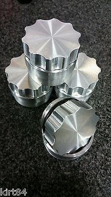 X AUTOHAUX 1 Inch ID Aluminium Alloy Auto Weld on Filler Neck Cap Oil Fuel Tank Silver Tone