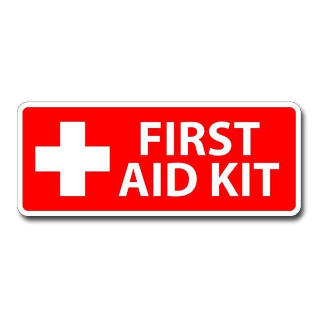 First Aid Kit Inside Emergency Medical Car Window Decal Laptop Vinyl Sticker