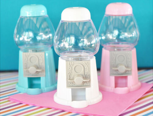 50 Mini Gumball Machine Birthday Baby Shower Sweet 15 16 Party Favor Table Decor