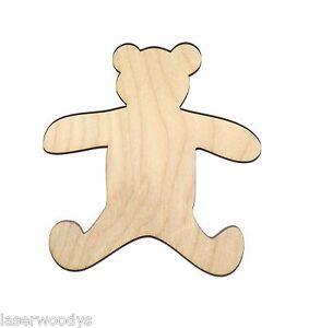 Teddy-Bear-Unfinished-Wood-Shape-Cut-Out-TB5068-Crafts-Lindahl-Woodcrafts