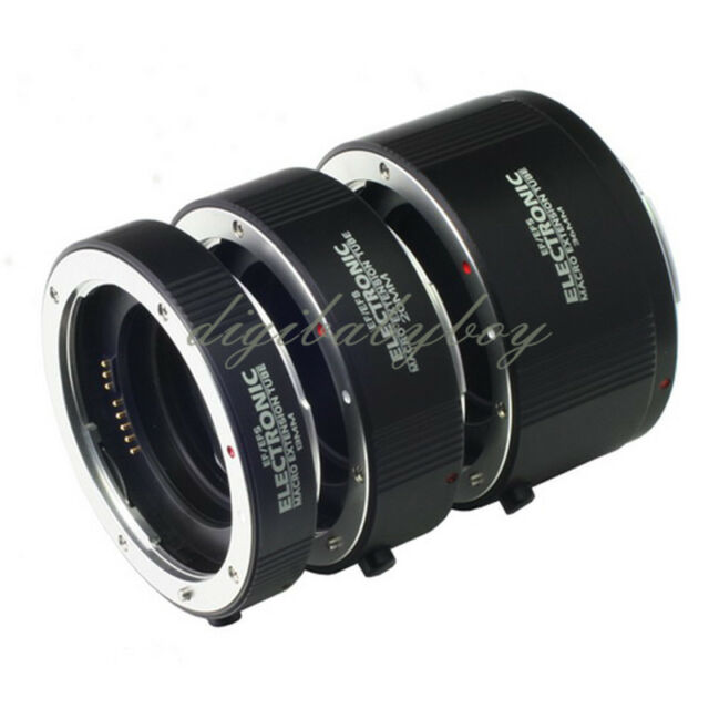 Electronic Marco Extension Tube Set Auto Focus Exposure Fo Canon EOS EF/EFS Lens