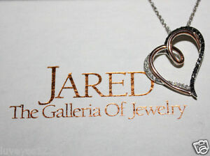 He went to Jared Black Diamond 14k Rose Goldsterling silver
